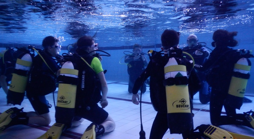 Group Pool Dive Training North Devon